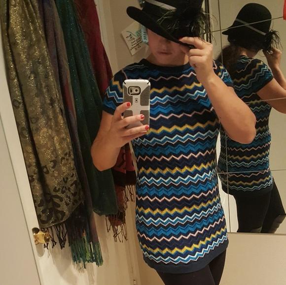 Missoni Dresses & Skirts - Mission for Target Blue Multi Mini Dress Tunic
